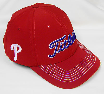 New Titleist MLB Fitted Philadelphia Phillies Golf Cap Hat, M/L or -