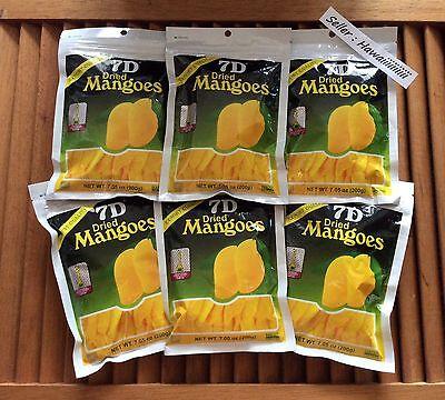 6 Big Bags 200g each 7D KOSHER DRIED REAL MANGO MANGOES with CANE SUGAR Mango Sugar Cane