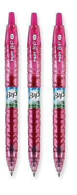 Pilot B2p Bottle-2-pen Recycled Gel Pens Pink Pen Pink Ink Fine 0.7mm 3pc