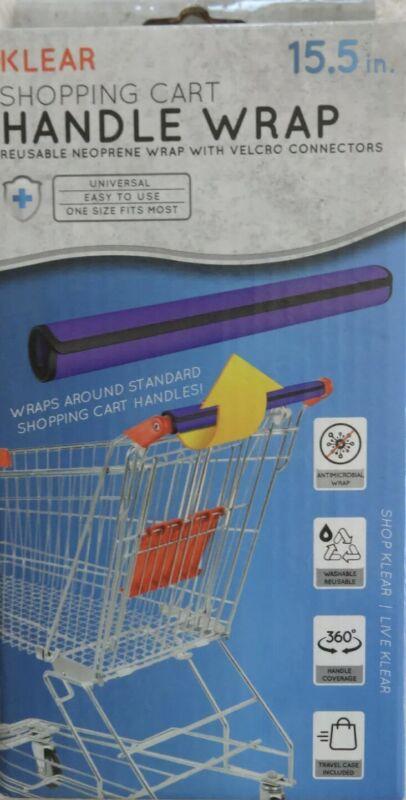 Klear Shopping Cart Handle Wrap PURPLE Reusable Guard Cover