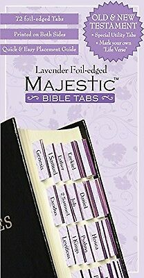 Bible Tabs Majestic Bible Tabs, Lavender, New, Free Shipping