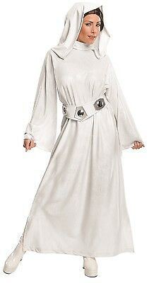 Ladies Official Princess Leia Star Wars + WIG Film Fancy Dress Costume Outfit