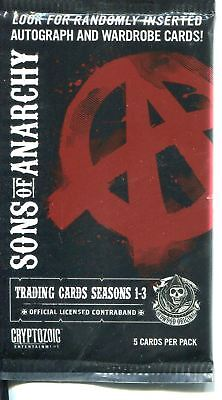 Sons Of Anarchy Seasons 1-3 Factory Sealed Hobby Packet / Pack