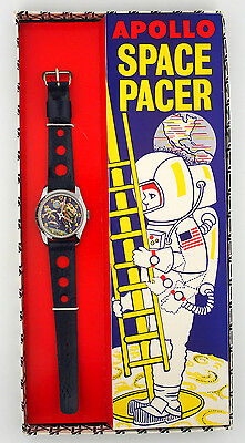 Vintage Apollo Space Pacer Astronaut Animated Character Watch in Original Box