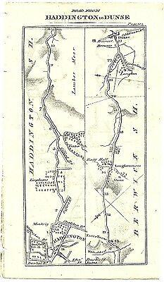 Antique map, Haddington to Dunse