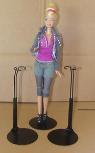 3-Barbie-Doll-Stands-by-Kaiser-3-new-BLACK-stands-Monster-High-Liv-Doll