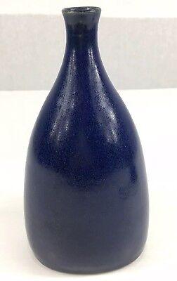 Susan Cupitt Studio Pottery Blue Vase 20cm In Height
