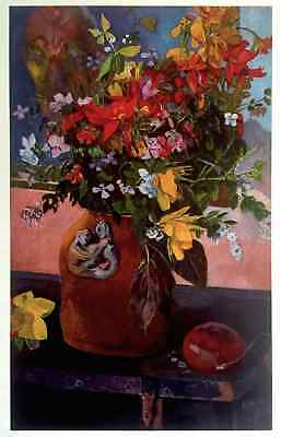 """GAUGUIN ORIGINAL VINTAGE 1972  LITHOGRAPH PRINT """" STILL LIFE WITH FLOWERS """" 1882"""