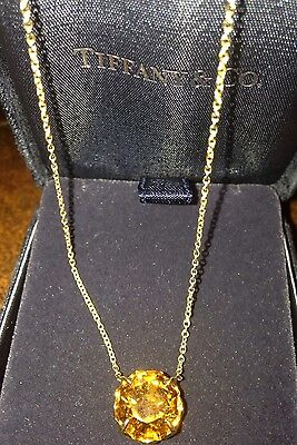 Tiffany & Co. 18k Gold Necklace with Citrine Pendant