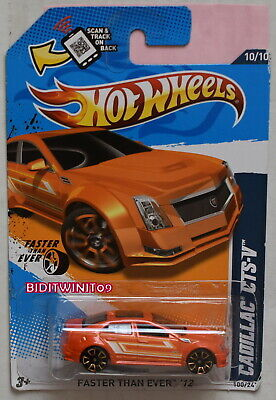 HOT WHEELS 2012 FASTER THAN EVER CADILLAC CTS-V ORANGE BAD CARD W+