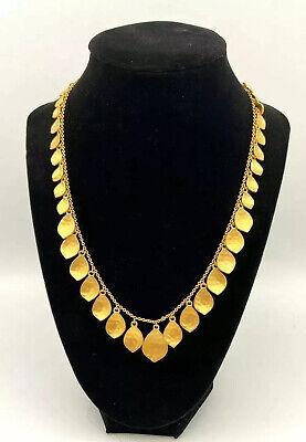 Lauren Ralph Lauren Gold Tone Hammered Leaf Drop Necklace $68