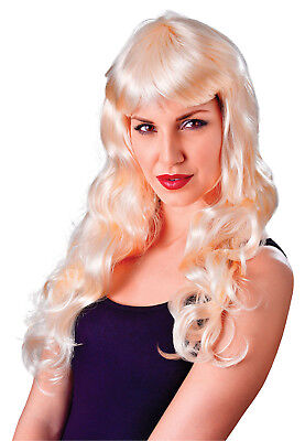 Sexy Long Wavy Blonde Wig Dolly Parton Saloon Girl Cowgirl Gothic Fancy Dress - Dolly Parton Halloween Wigs