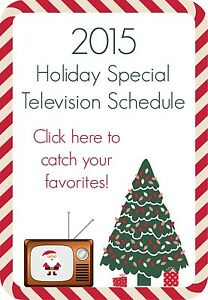 2015 Holiday Specials Television Schedule