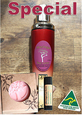 Skin Care Set  Body Lotion, Lotion Bar & Lip Balm with Morin