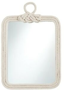 Pottery Barn White Rope Mirror, New In Box