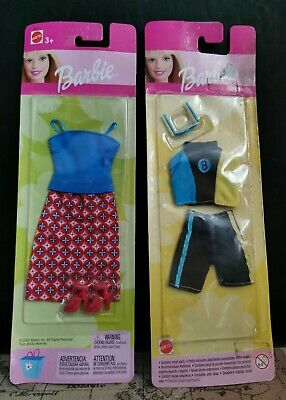 2 - Sun & Sea Fashions 1999 Mattel 68085 & 68014 2002 Mattel (Barbie-outfits)