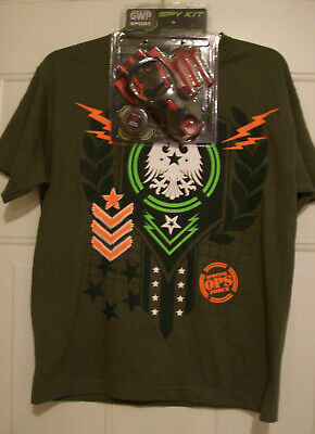"GWP Sport Eagle Special Ops Force Boy's 'T-Shirt w/ ""Spy Kit"" - Size: L - NEW"