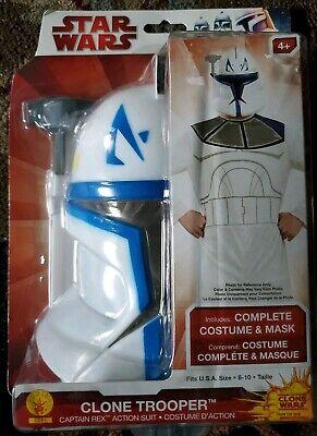 Clone Trooper Captain Rex Costume Kids Star Wars, SIZE SMALL 8-10 Halloween NEW - Star Wars Captain Rex Halloween Costume