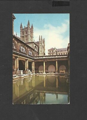 Vintage colour Postcard Roman Bath and Abbey Bath Somerset  unposted