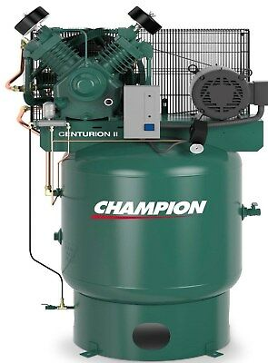 Champion Vrv7-8-3p-230 Air Compressor 7.5 Hp Watd Acac And Air Dryer Crn25-f