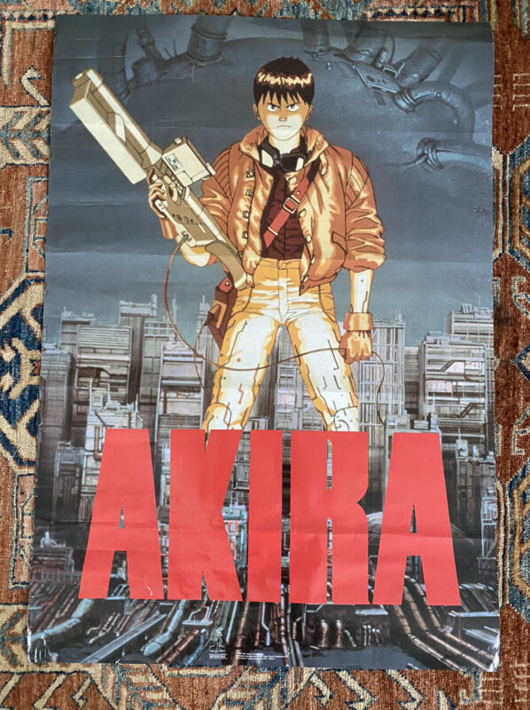 AKIRA RARE AUTHENTIC 1989 POSTER Good Condition! Vintage 80s