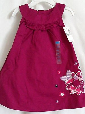 GIRLS 9-12 MONTH FUCHSIA FLOWER SUMMER DRESS PANTY SET NWT THE CHILDREN