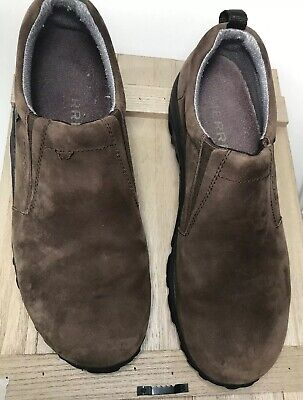 Merrell Gore-Tex Soles Cabellas Brown Hiking Loafers Slip On Men's Size 9.5 GUC for sale  Shipping to Canada