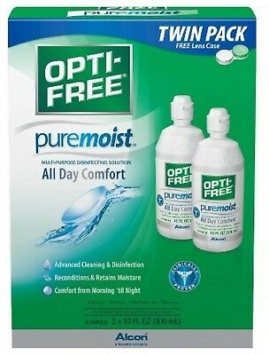 OPTI-FREE PureMoist Multi-Purpose Contact Lens Solution 20 oz (Pack of 6)