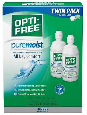 OPTI-FREE PureMoist Multi-Purpose Contact Lens Solution 20 oz (Pack of 2)