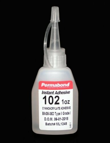 PERMABOND 102 Instant Adhesive, Ethyl Cyanoacrylate, 1 OUNCE, General Purpose