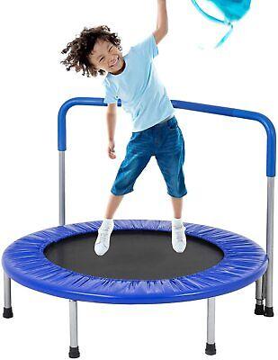 36-Inch Kids Trampoline Mini Trampoline with Handrail Fitness Equipment & Gear