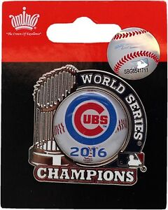 Chicago Cubs 2016 World Series Champions Pin Trophy Baseball 13316