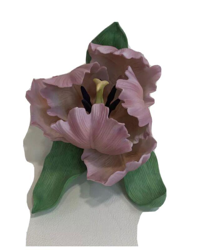 Lenox Parrot Tulip Fine Porcelain Sculpture Garden Flower Figurine  New In Box