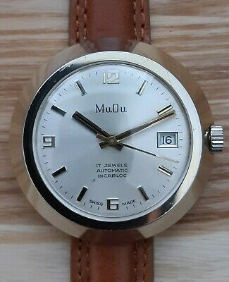 MuDu Vintage 1960s Retro Automatic Watch AS 1902/03