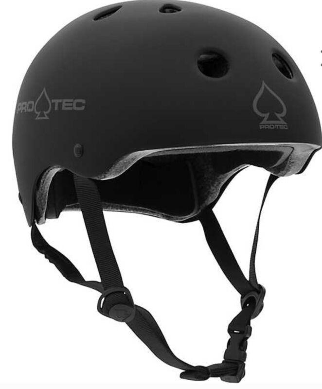 ProTec Spade Series Certified Skateboard Bmx Helmet Matte Black Lightweight M/L
