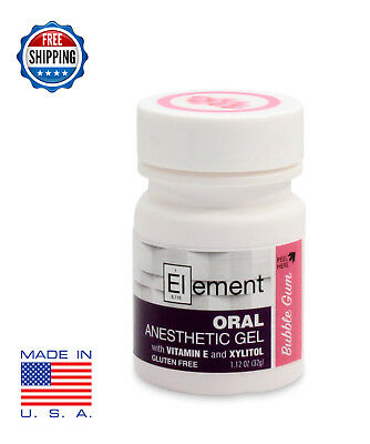 Topical Anesthetic - ELEMENT 20% Benzocaine Topical Anesthetic Gel BB GUM Tattoo Numbing Piercing