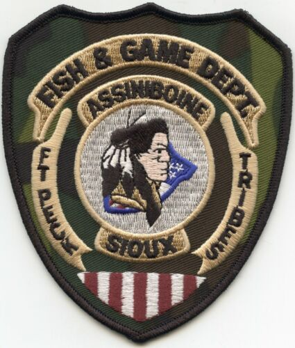 ASSINIBOINE SIOUX INDIAN TRIBE MONTANA MT FISH AND GAME TRIBAL POLICE PATCH