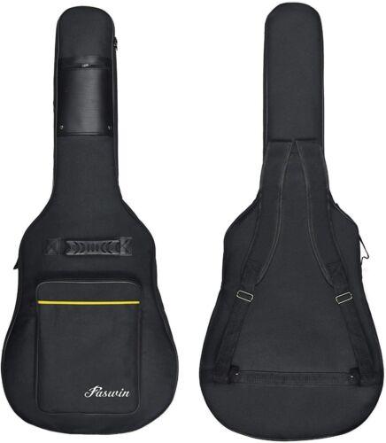 "41"" Acoustic Guitar Hard Case Pocket Padded Gig Soft Fits Most Standard Gift New"