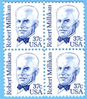 BID on  US Stamps Sc # 1866  37c ROBERT MILLIKAN  Blk of 4,  MINT OG NH VF