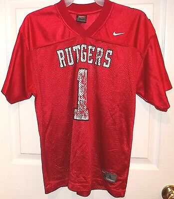 Boys Nike RUTGERS~Scarlet Knights JERSEY~16-18 Youth LARGE~NEW~Basketball Shirt