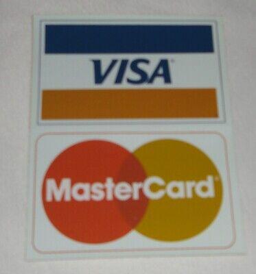 Vintage Visa Mastercard Credit Card Logo Decal Sticker Display