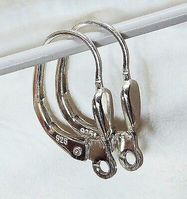 Brisur Silber 925 Klappbrisur Klappbügel für Ohrringe Ohrhänger Zubehör 1 Paar