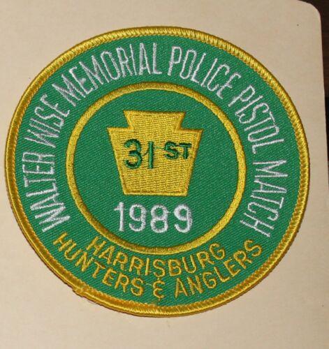 1989 HARRISBURG HUNTERS & ANGLERS Police Pistol Match Pennsylvania WALTER WISE