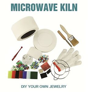 Microwave Kiln Kit LARGE Glass Fusing Kit DIY Jewellery Art Like Fuseworks