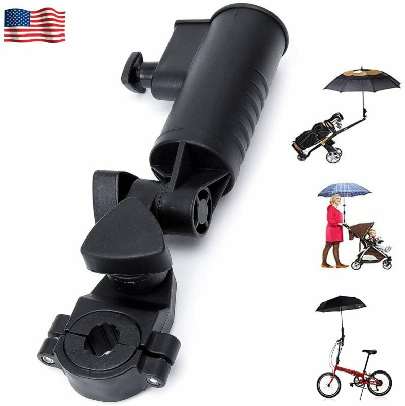Golf Cart Umbrella Holder Adjustable Angle Stroller Attachment with Clamp Hot