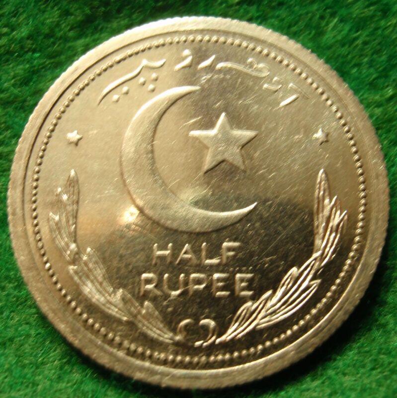 Scarce 1948 HALF RUPEE PAKISTAN, PROOF  Very rare coin