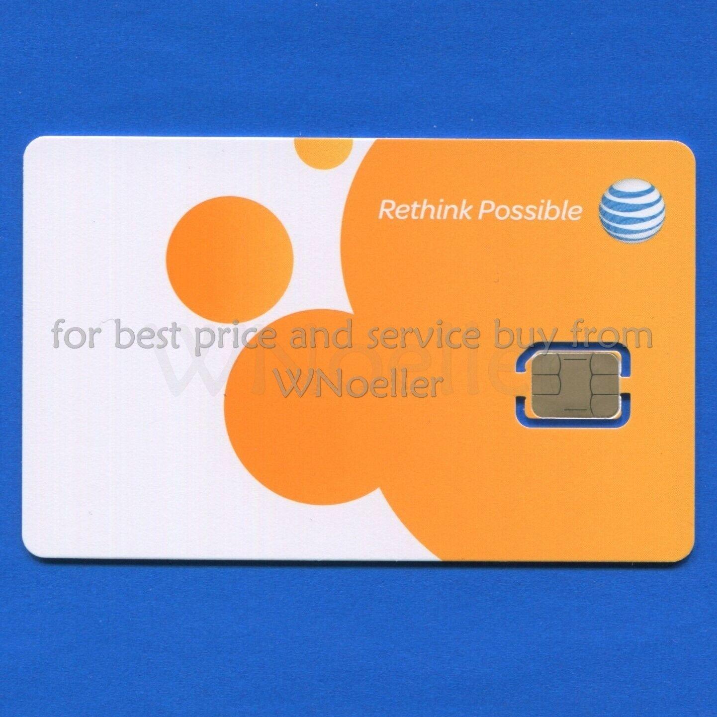 как выглядит SIM-карта для мобильного телефона NEW Genuine AT&T Nano Sim Card • supports 4G LTE • Prepaid GoPhone or Contract фото