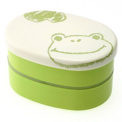 Kotobuki 2-Tiered Bento Box, Green Frog Sketch