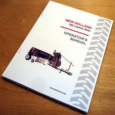 New Holland 282 Hayliner Baler Operators Owners Manual Book Nh