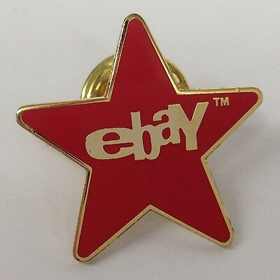 Lot of 45 eBay Red Star Lapel Pins - Old Logo